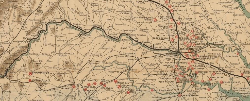 virginia battlefield map