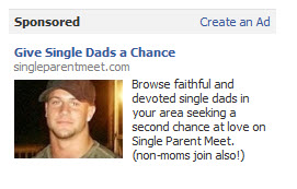 Facebook Advertisement for Single Dads