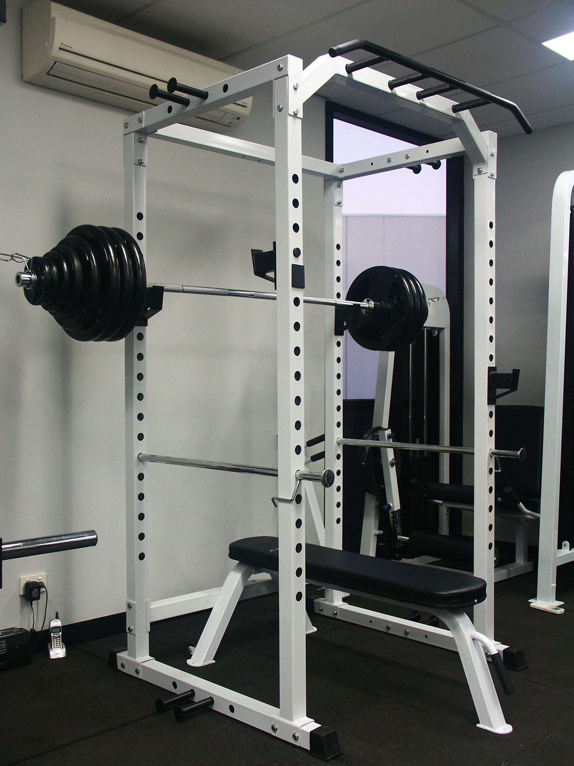 Power Squat Rack Cage 180kg Olympic Weight Set Flat