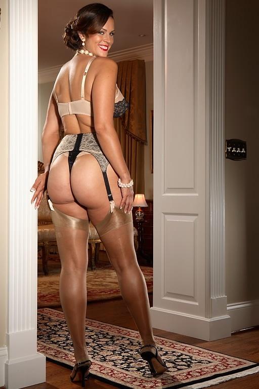 big ass stockings garter belt