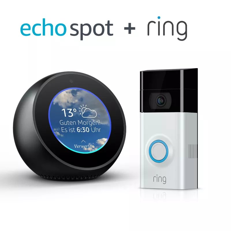 Haustürklingel Amazon Amazon Echo Spot Schwarz Ring Video Türklingel 2