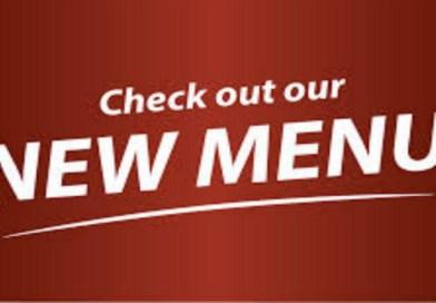 New Menu Launching 25th April 2016