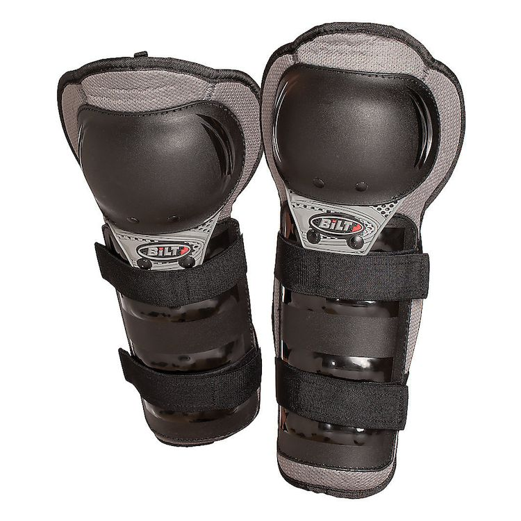 Zoom Rev Grey Bilt Kids Charger Knee Guards Cycle Gear