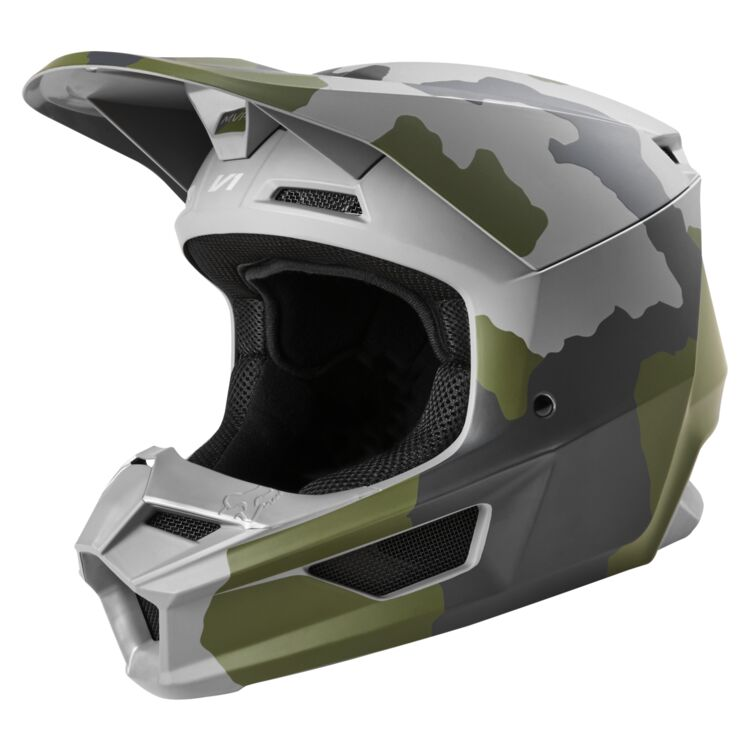 Zoom Rev Grey Fox Racing Youth V1 Przm Camo Helmet Cycle Gear