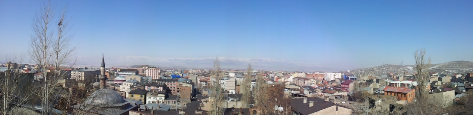 Looking out across Erzurum from a castle wall