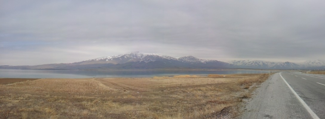 Looking across Lake Van from the south-east side.