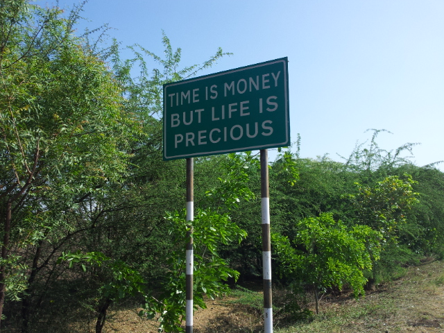 More wisdom from the road.