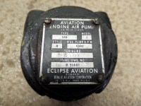 AIRCRAFT ECLIPSE AVIATION WET VACUUM PUMP EA-52601 D-95601 ...