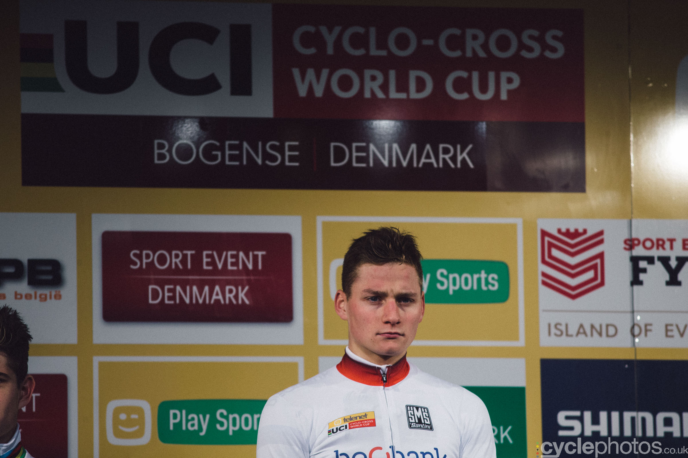 Mathieu van der Poel at UCI Cyclocross World Cup #4 - Bogense, DEN