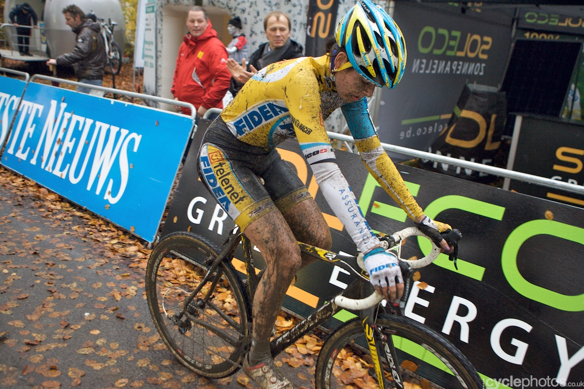 Nikki Harris wins the 3rd Superprestige cyclocross race in Asper-Gavere, Belgium. Photo by Balint Hamvas / Cyclephotos.co.uk