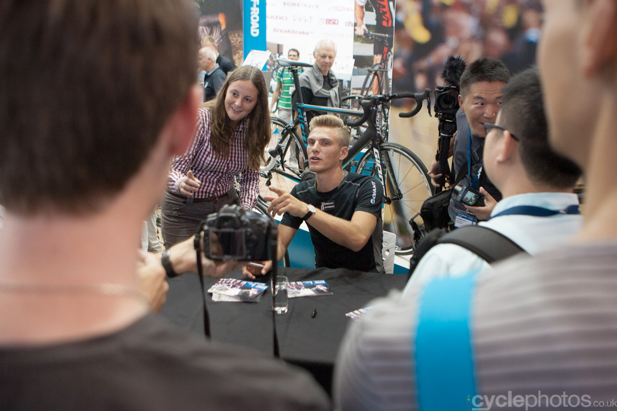 Marcell Kittell at the 2014 Eurobike Bike show in Friedrichshafen, Germany.