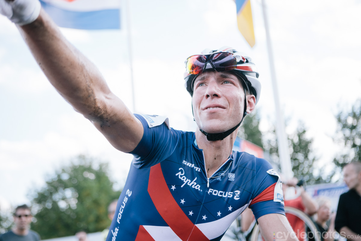Jeremy Powers talks about the of the first cyclocross World Cup race of the 2014/2015 season in Valkenburg.