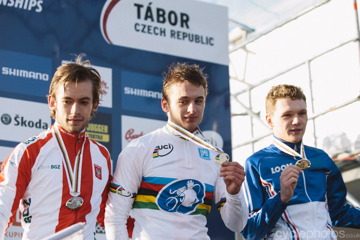 As far as I know, the Szczepaniak brothers were the first siblings to occupy the top of the podium of a major cyclocross race. However, news broke a few weeks later that they were drugged up to their ears. Consequently, Arnaud Jouffroy was awarded with the win.