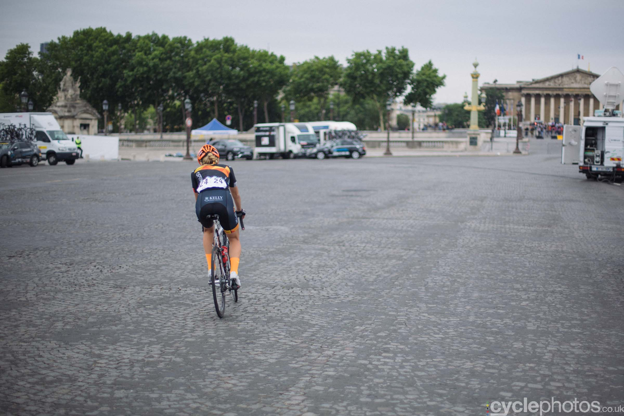 Maura Kinsella before the 2015 edition of the La Course by Le Tour women's road cycling race.