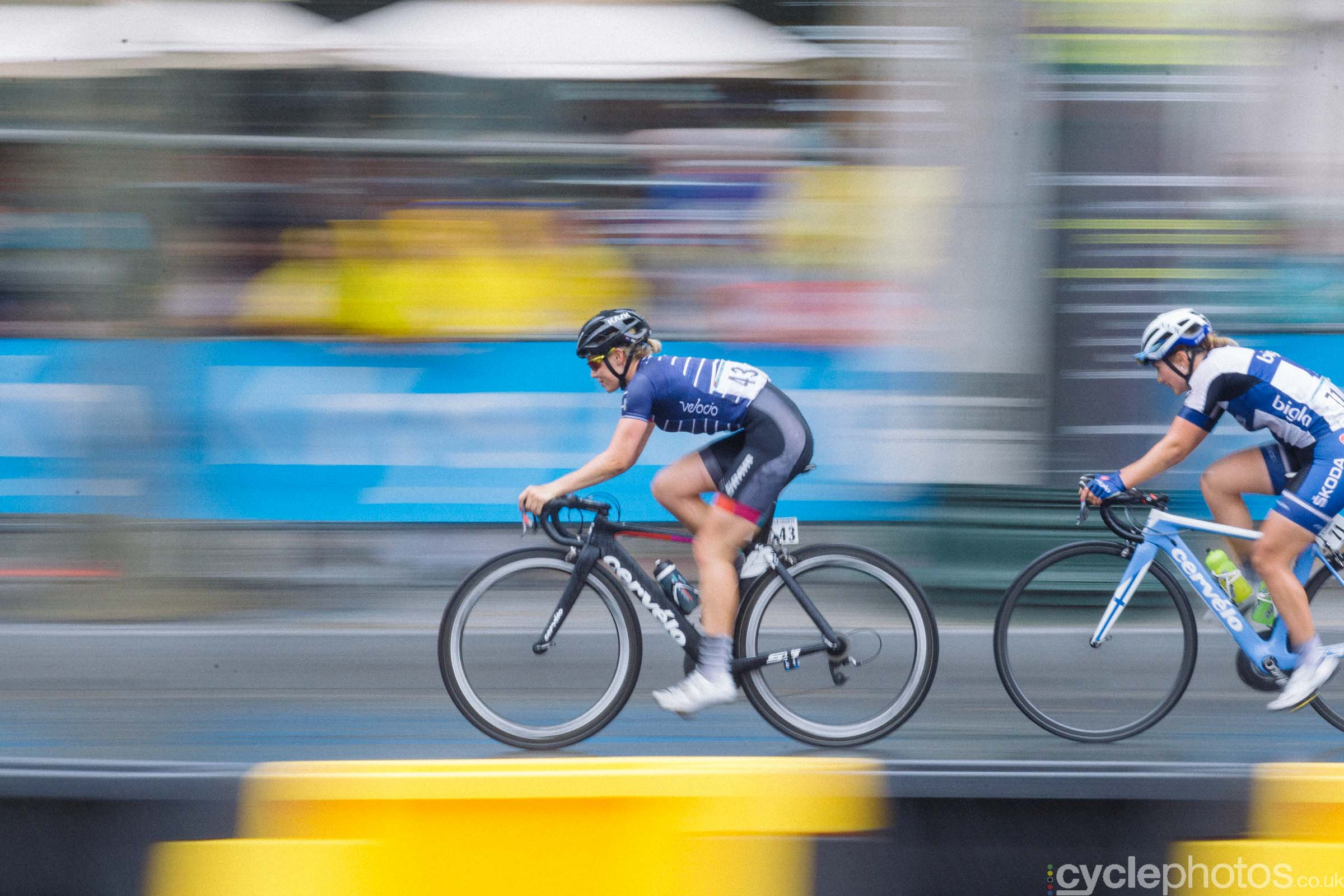 Tiffany Cromwell and Lotta Lepist� during the 2015 edition of the La Course by Le Tour women's road cycling race.