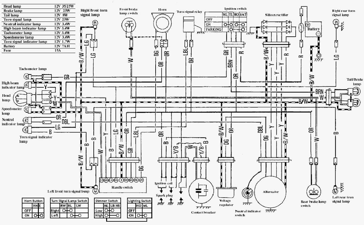 suzuki motorcycle schematic diagram
