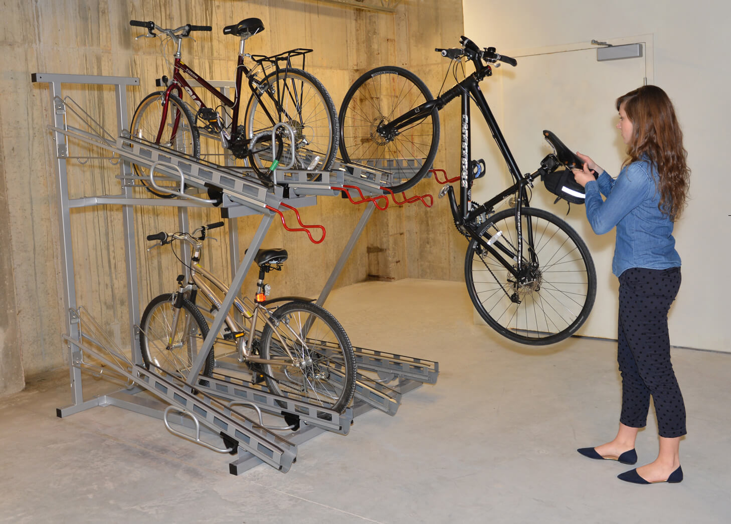 Parking Garage Bike Rack Bike Room Layout Cyclesafe