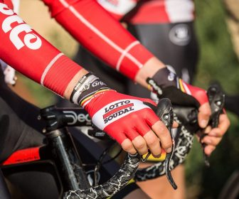 Good enough for the Lotto boys, GripGrab Aero Gloves in the peloton. Photo by Martin Paldan