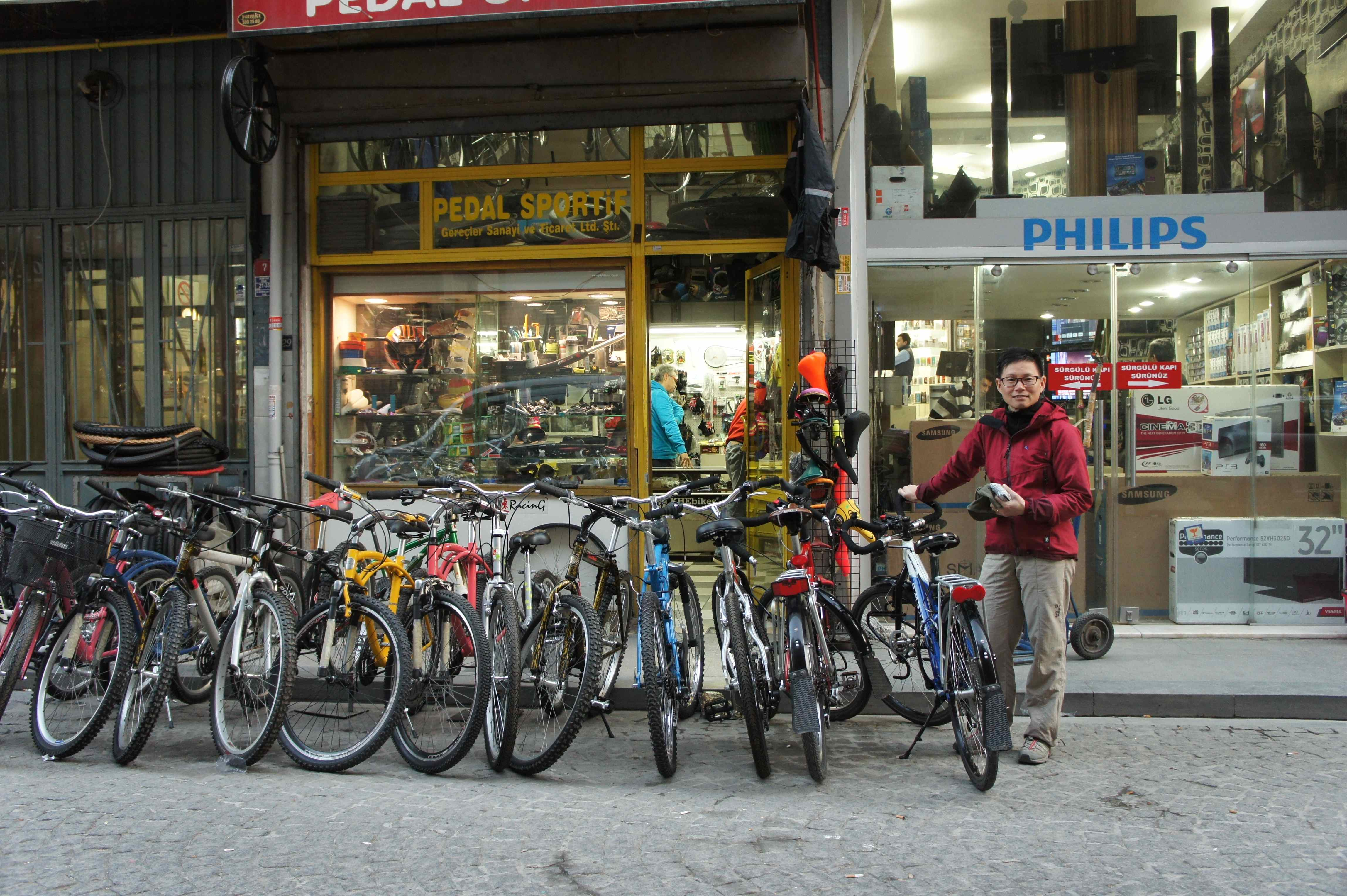 A Bike Store Maintenance In Istanbul Cycling From Home To Home ปนจกรยาน