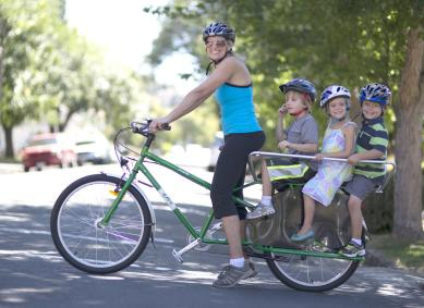 Towing Or Carrying Kids On Your Bike Cycling With Kids