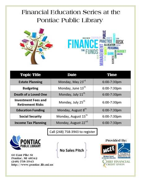 Pontiac Library Seminar Poster - corrected