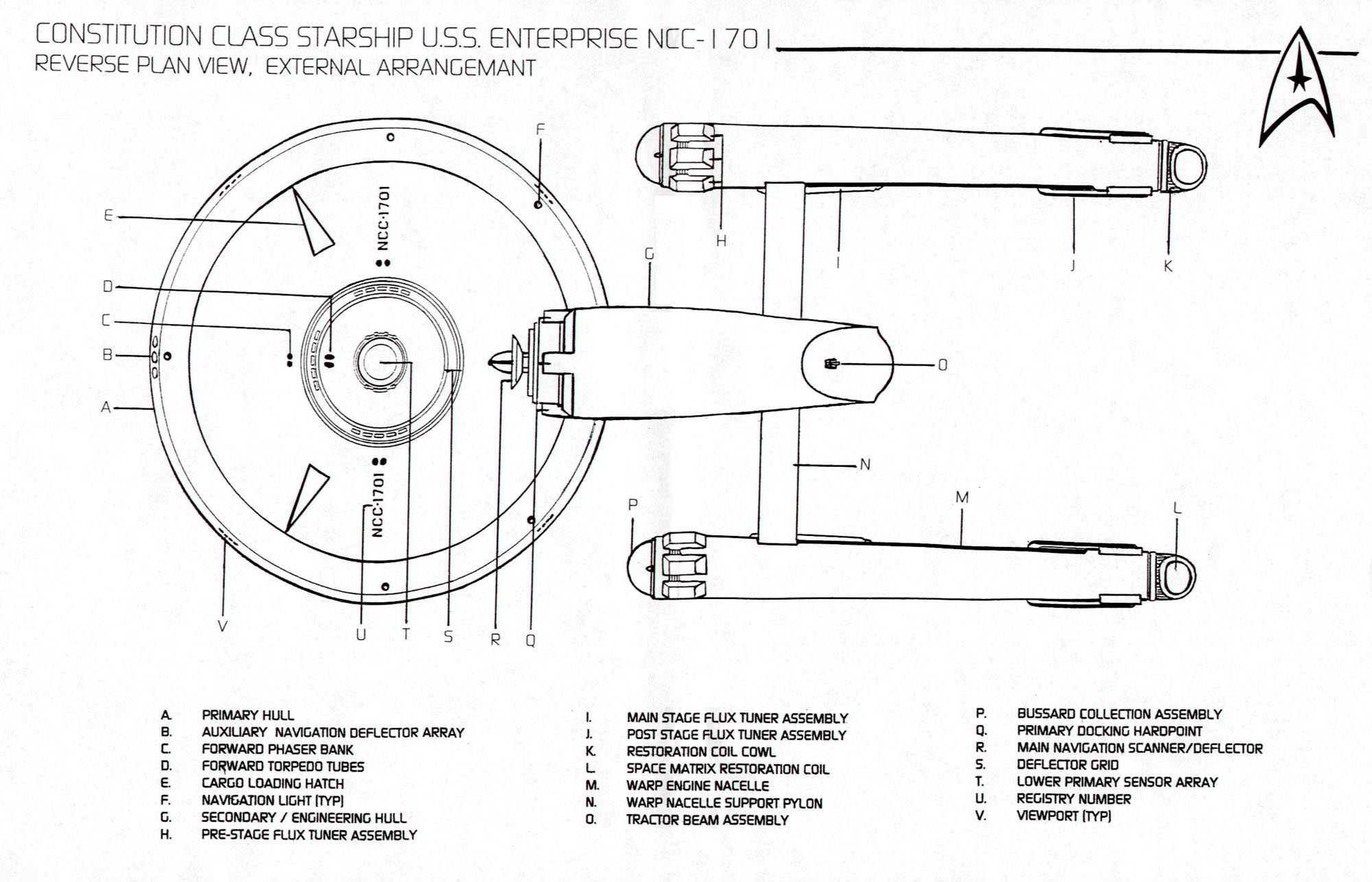 Entreprise Construction Classe 8 Star Trek Blueprints Federation Starship U S S