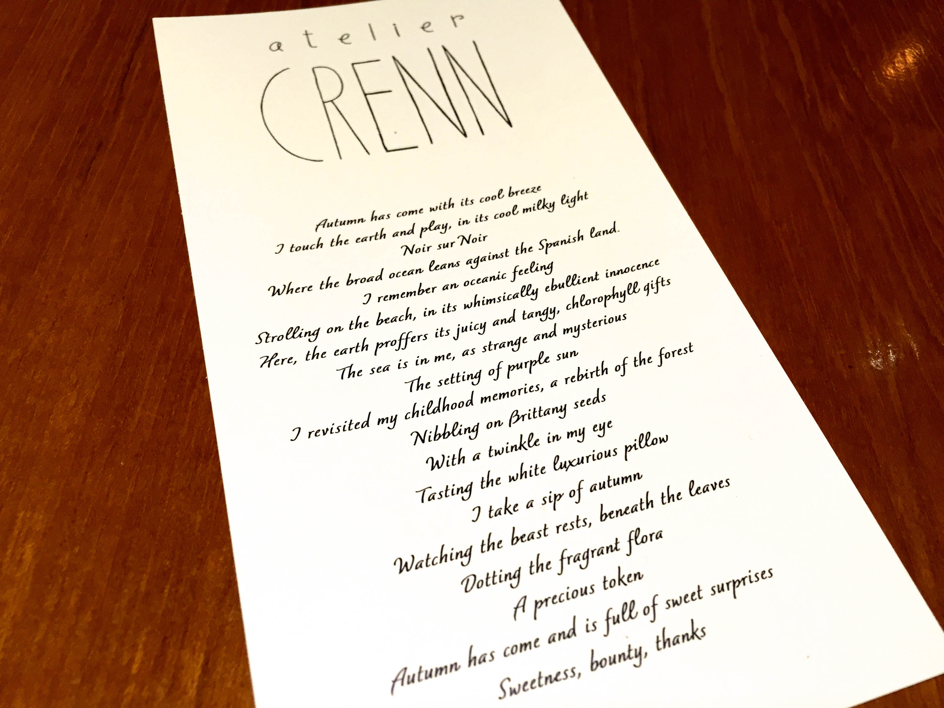 Atelier Seewhy Wanna See What Art Food Poetry Looks Like Atelier Crenn Cyn