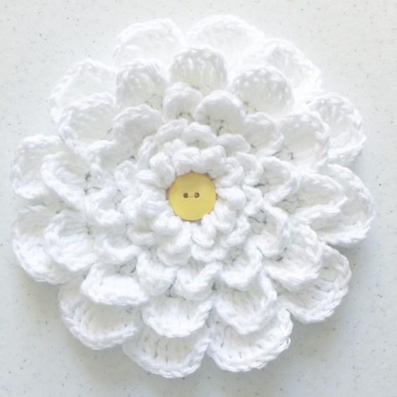 large crochet multi- petal flower