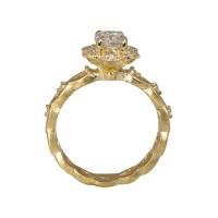Kelsey Floral Yellow Gold Engagement Ring | Cynthia Britt