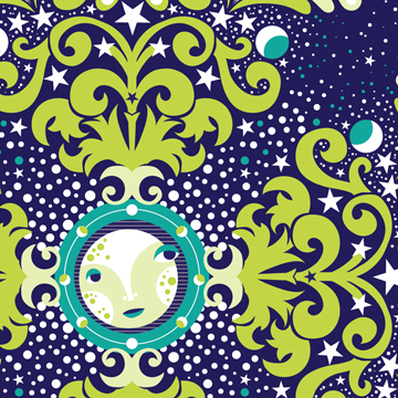 This week's Spoonflower design contest, Moon Phases