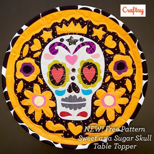 NEW! Free Pattern, Sweet as a Sugar Skull Table Topper