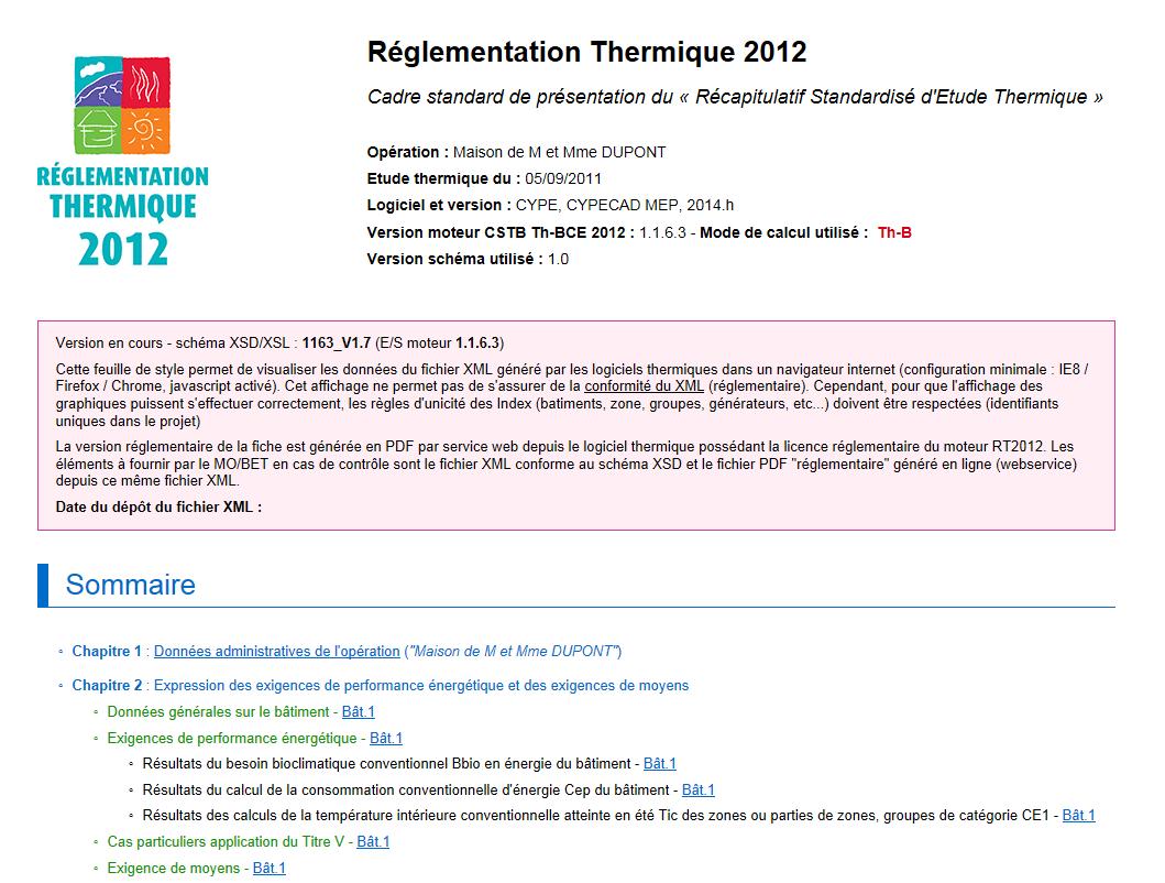 r�sum� �tude thermique xml