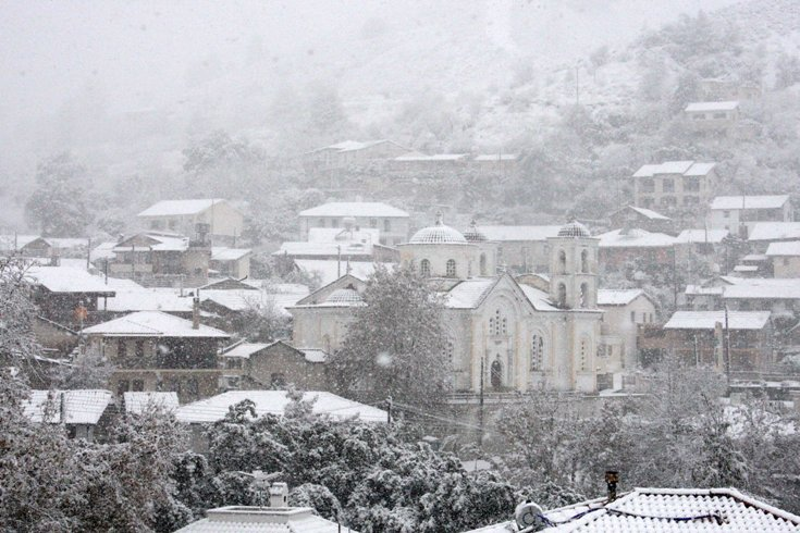 Heavy snowfall over Cyprus