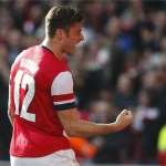 Arsenal's two goal hero Olivier Giroud