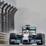 Hamilton on pole for Mercedes in wet China