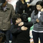 Relatives of the missing passengers of the Sewol ferry