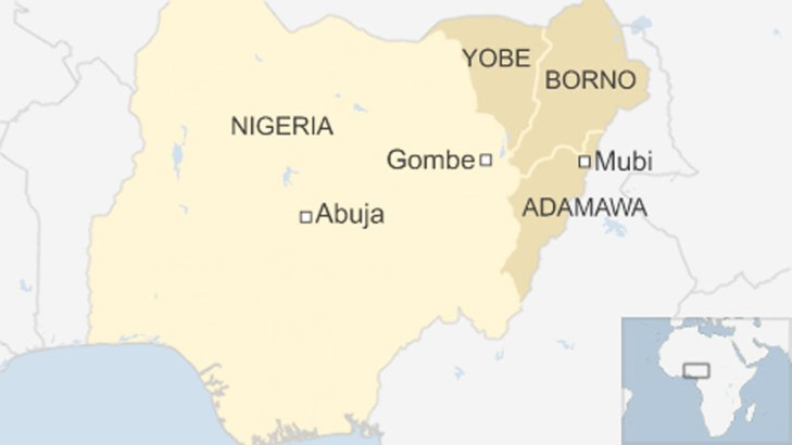 Car bomb kills 10 at bus stop in northeast Nigeria