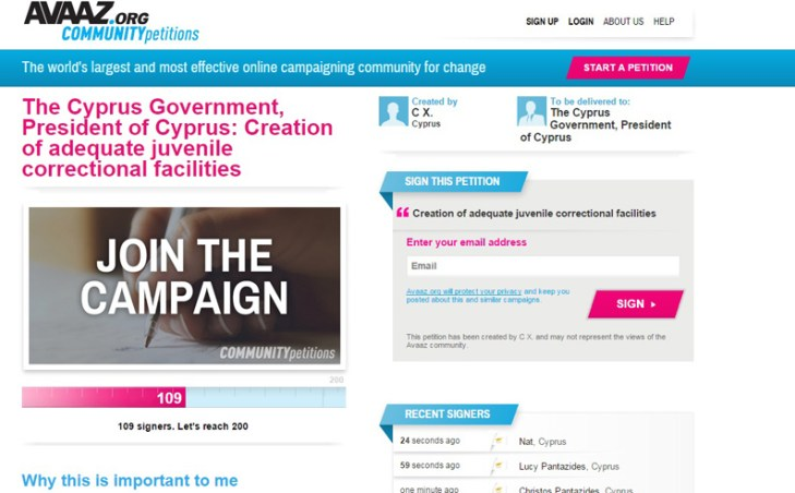 Petition site launched for the creation of juvenile correctional facilities