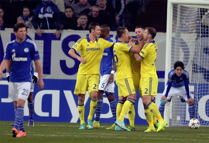 Chelsea qualify in style with five-goal romp at Schalke