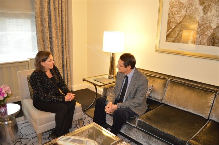 US Assistant Secretary of State visits Cyprus President in New York