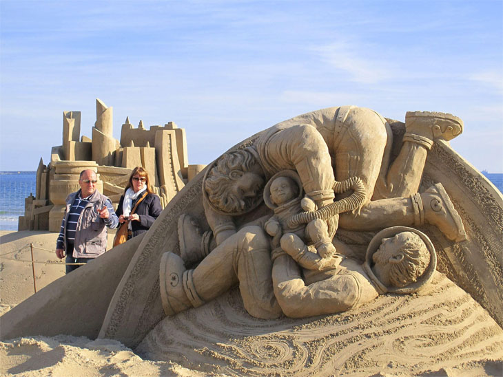 Sculptures in the sand