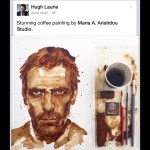 Cypriot artist's 'coffee portrait' of Hugh Laurie goes viral