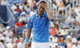 Nishikori falls in first round upset at U.S. Open