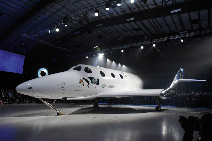 Virgin Galactic SpaceShip 2 unveiled in California