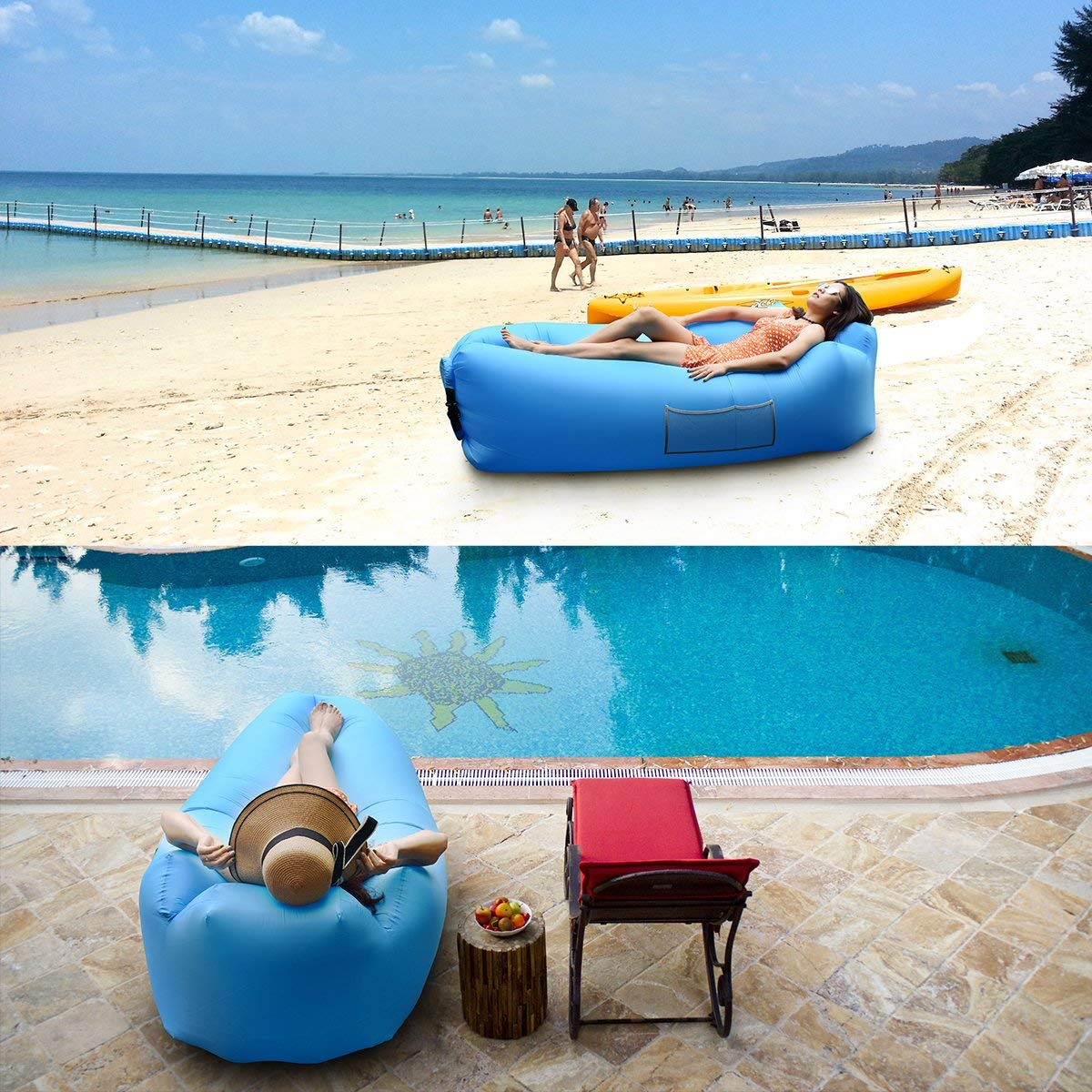 Big Inflatable Couch Outdoor Inflatable Lounger Couch