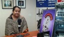 Erika Patricia Guerra Escalante hablando sobre niños migrante