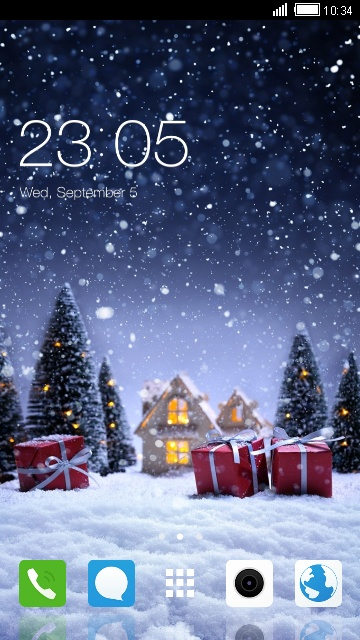 Christmas Themes for Oppo A57 free android theme \u2013 U launcher 3D - christmas themes images