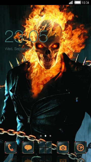 Best Quote Phone Wallpapers Download Ghost Rider Skull Theme For Your Android Phone