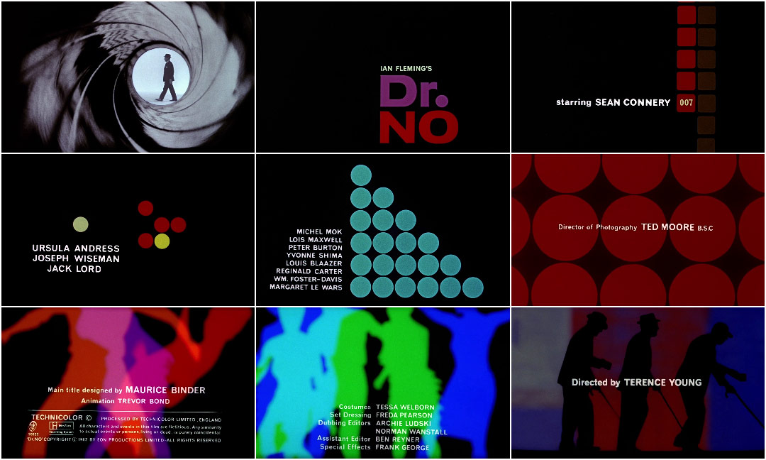 Dr No (1962) \u2014 Art of the Title - animation title