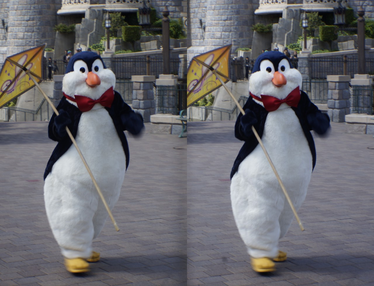 Pingouin Mary Poppins 3d Penguin Waiter In Disney S Spring Parade By Aoi Kitsune Fur
